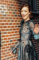 OLIVIA WILDE Arrives at Late Show with Stephen Colbert in New York 06/13/2017