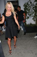 PAMELA ANDERSON Leaves Avenue Nightclub in Los Angeles 06/09/2017