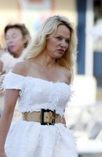 PAMELA ANDERSON Out and About in Saint Tropez 06/02/2017