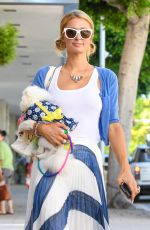 PARIS HILTON Out with Her Dog in Beverly Hills 06/26/2017