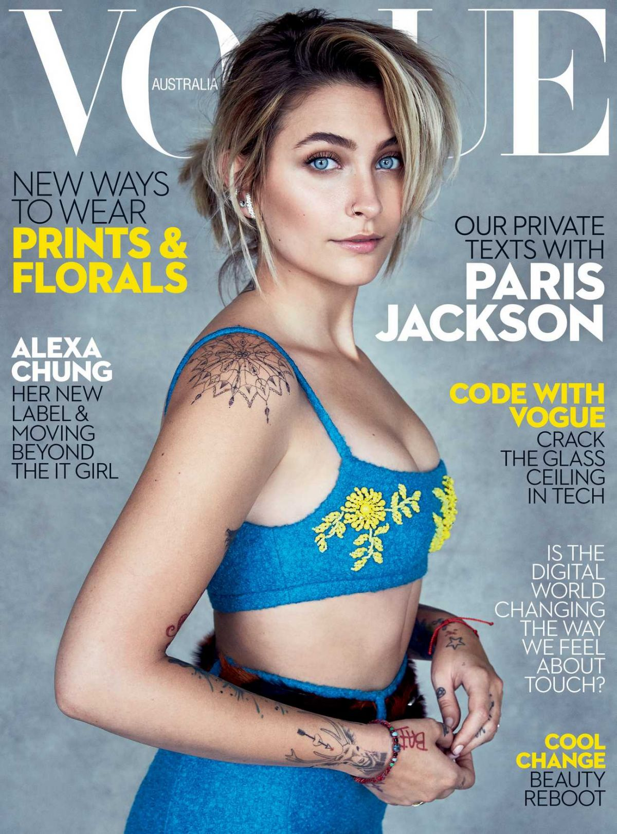 PARIS JACKSON for Vogue Magazine, Australia July 2017