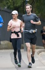 PIPPA MIDLETON and James Matthews Out Jogging in Sydney 05/31/2017