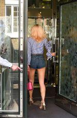 PIXIE LOTT in Denim Shorts Out in London 06/21/2017