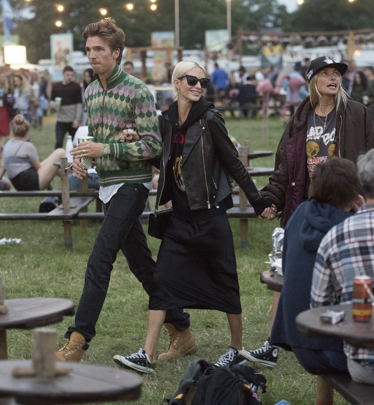 POPPY DELEVINGNE and James Cook at Glastonbury Festival 06/23/2017
