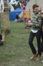 POPPY DELEVINGNE and James Cook at Glastonbury Festival 06/23/2017