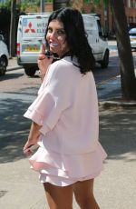 Pregnant CARA DE LA HOYDE Leaves ITV Studios in London 06/20/2017