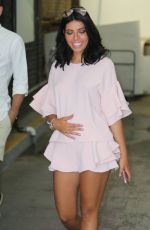 Pregnant CARA DE LA HOYDE Leaves ITV Studios in London 06/20/2017