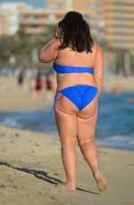 Pregnant CHANELLE HAYES in Bikini at a Beach in Majorca 06/25/2017