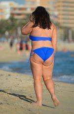 Pregnant CHANELLE HAYES in Bikini at a Beach in Majorca 06/25/2017