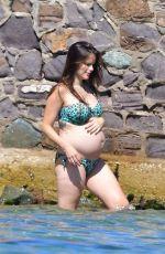 Pregnant PRINCESS SOFIA OF SWEDEN in Bikini on the Beach in St. Tropez 06/25/2017