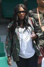 Pregnant SERENA WILLIAMS at 2017 French Open at Roland Garros in Paris 05/31/2017
