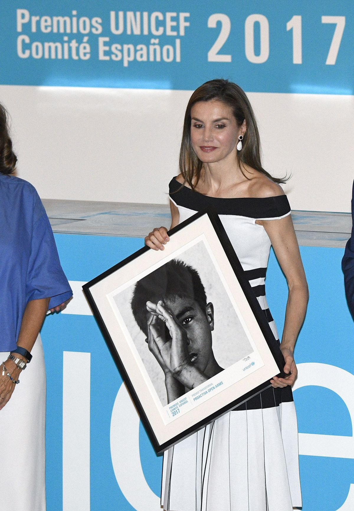 QUEEN LETIZIA OF SPAIN at Unicef Spanish Committee 2017 Awards in Madrid 06/13/2017