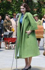 RACHEL BROSNAHAN on the Set of The Marvelous Mrs. Maisel in New York 06/12/2017