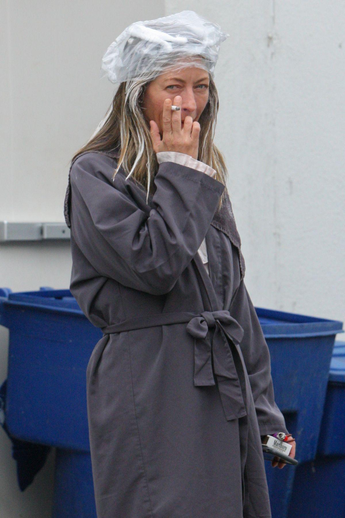 REBECCA GAYHEART Takes a Cigarette Break Outside a Hair Salon in West Hollywood 05/31/2017