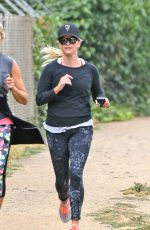 REESE WITHERSPOON Out Jogging in Brentwood 06/05/2017