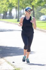REESE WITHERSPOON Out Jogging in Los Angeles 06/15/2017