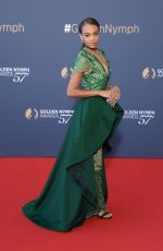 REIGN EDWARDS at 57th Monte Carlo Television Festival Closing Ceremony 06/20/2017