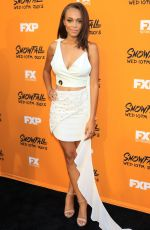 REIGN EDWARDS at Snowfall Premiere in Los Angeles 06/26/2017