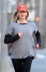 RENEE ZELLWEGER Out Jogging in Santa Monica 06/13/2017