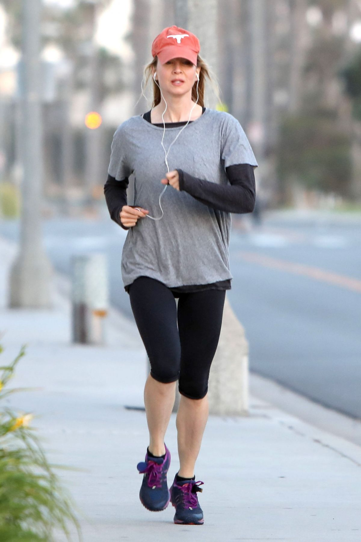 RENEE ZELLWEGER Out Jogging in Santa Monica 06/13/2017 ...