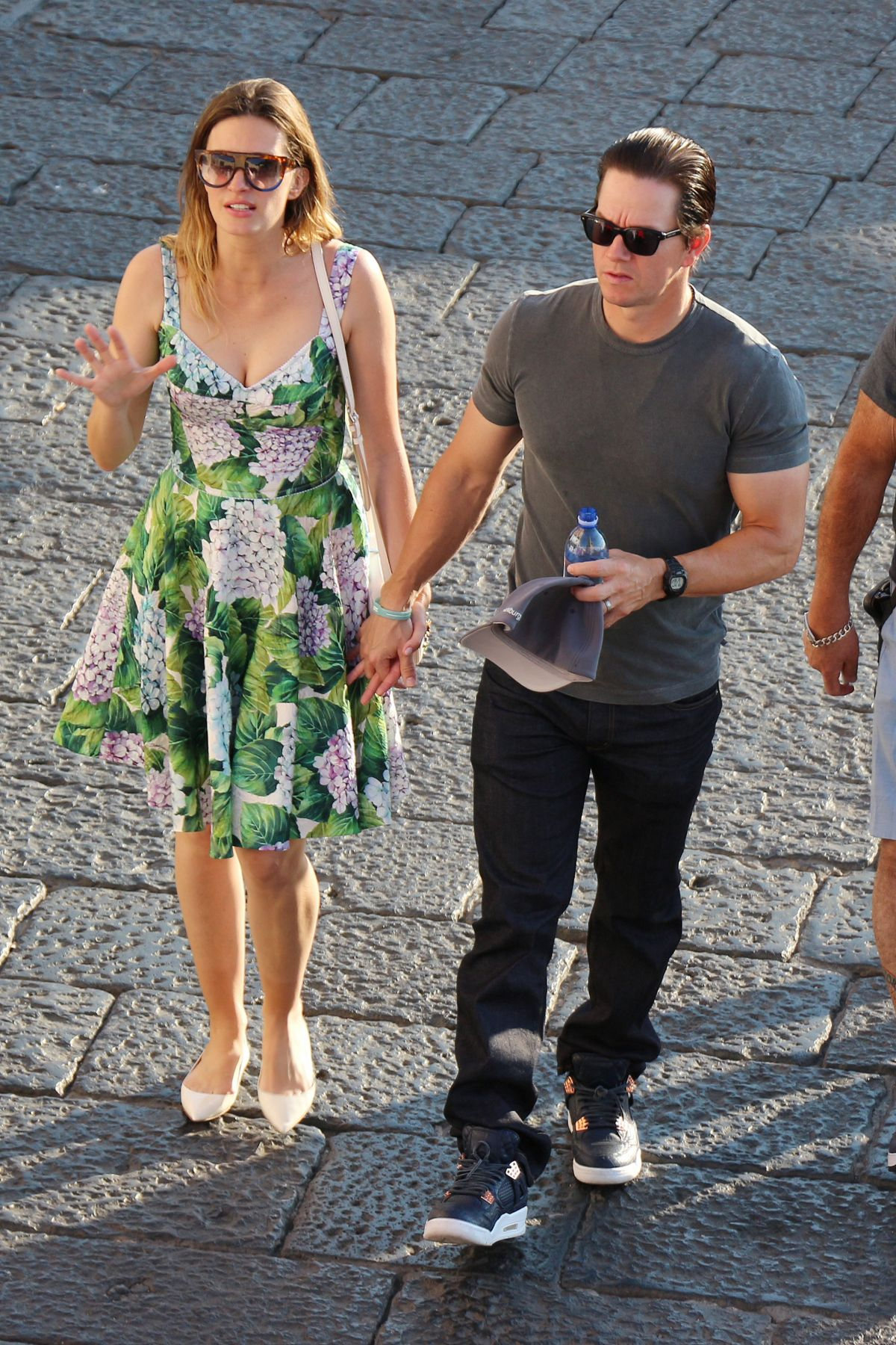 RHEA DURHAM and Mark Wahlberg Out in Capri 06/24/2017