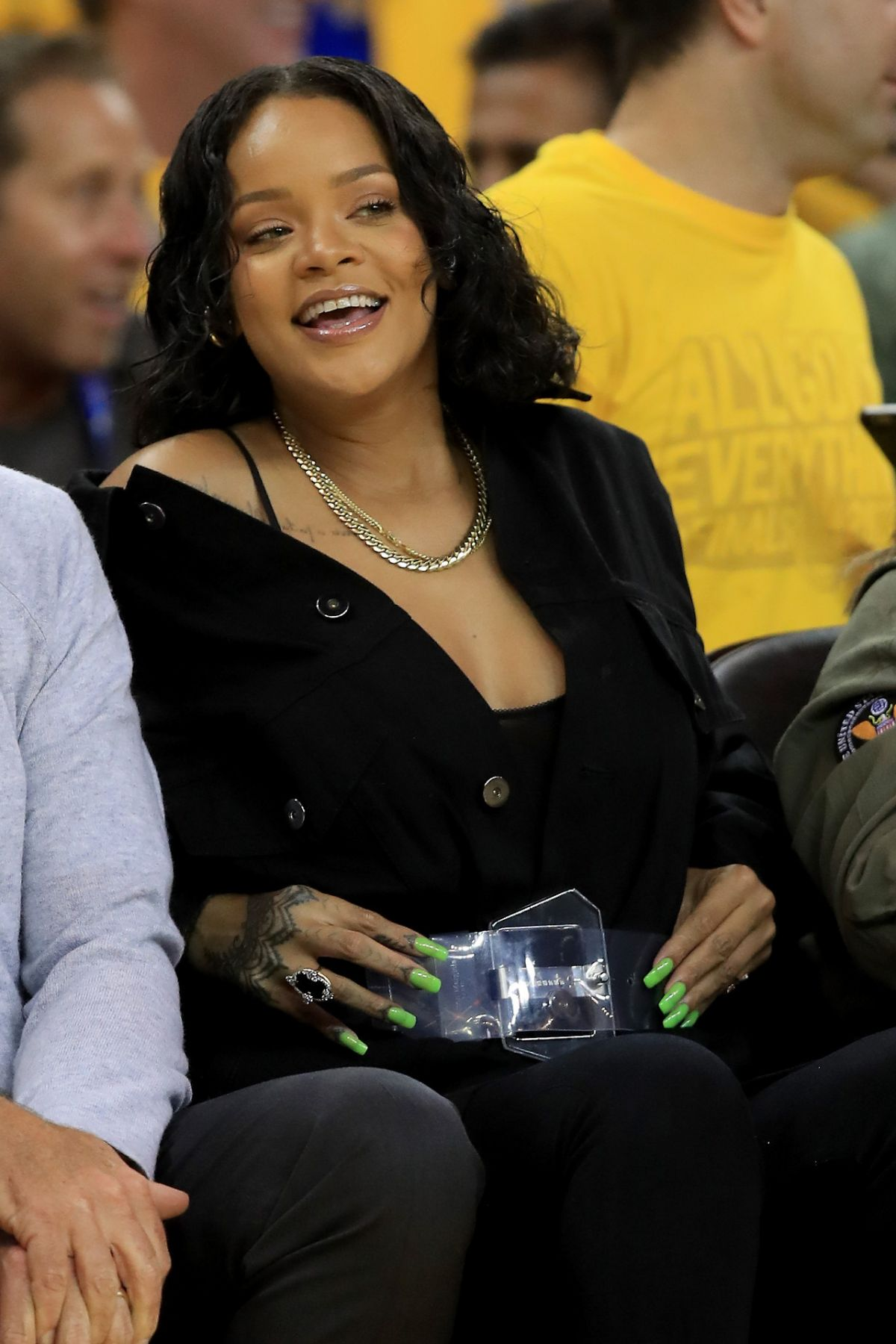 RIHANNA at NBA Final
