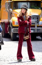 ROMEE STRIJD on the Set of a Photoshoot in New York 06/02/2017\