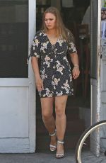 RONDA ROUSEY in Short Dress Out in Los Angeles 06/14/2017