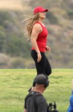 RONDA ROUSEY on the Set of Battle of the Network Stars, Show in Malibu 06/07/2017