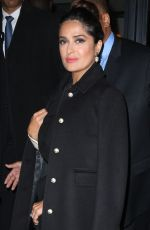 SALMA HAYEK Arrives at Late Show with Stephen Colbert 06/06/2017