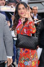SALMA HAYEK Arrives at The Daily Show with Trevor Noah in New York 06/08/2017