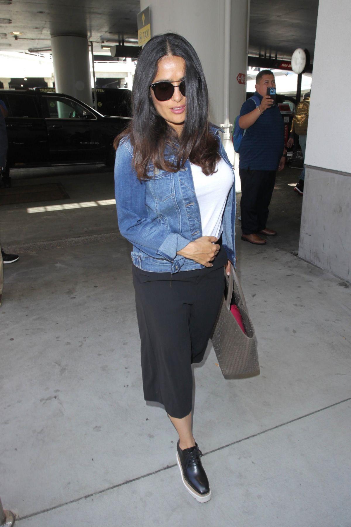 SALMA HAYEK at Los Angeles International Airport 06/15/2017