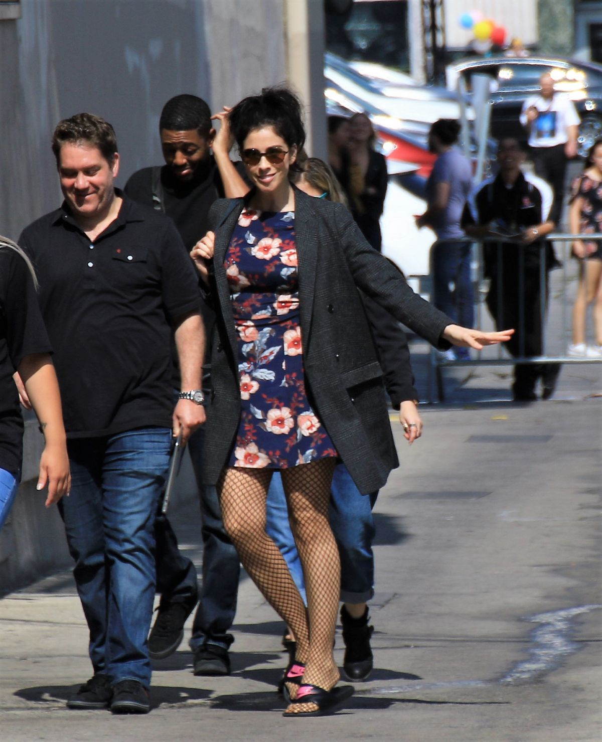 SARAH SILVERMAN Arrives at Jimmy Kimmel Live in Hollywood 06/01/2017