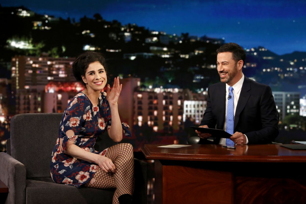 SARAH SILVERMAN at Jimmy Kimmel Live 06/01/2017 ...