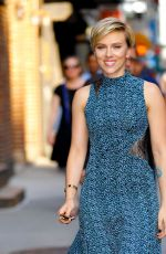 SCARLETT JOHANSSON Arrives at Late Show with Stephen Colbert in New York 06/13/2017