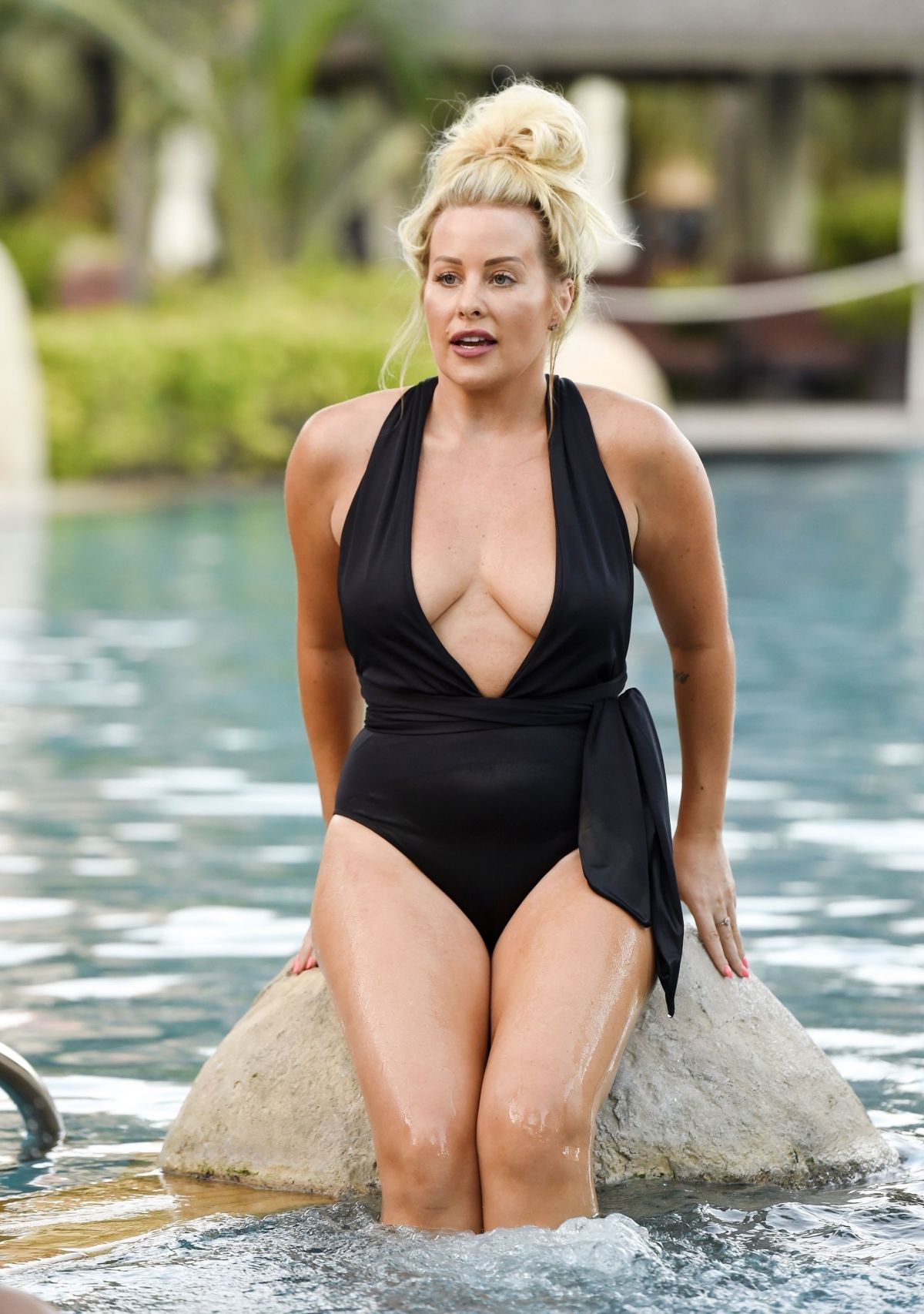 SELINA WATERMAN-SMITH in Swimsuit on Holiday in Dubai 06/02/2017