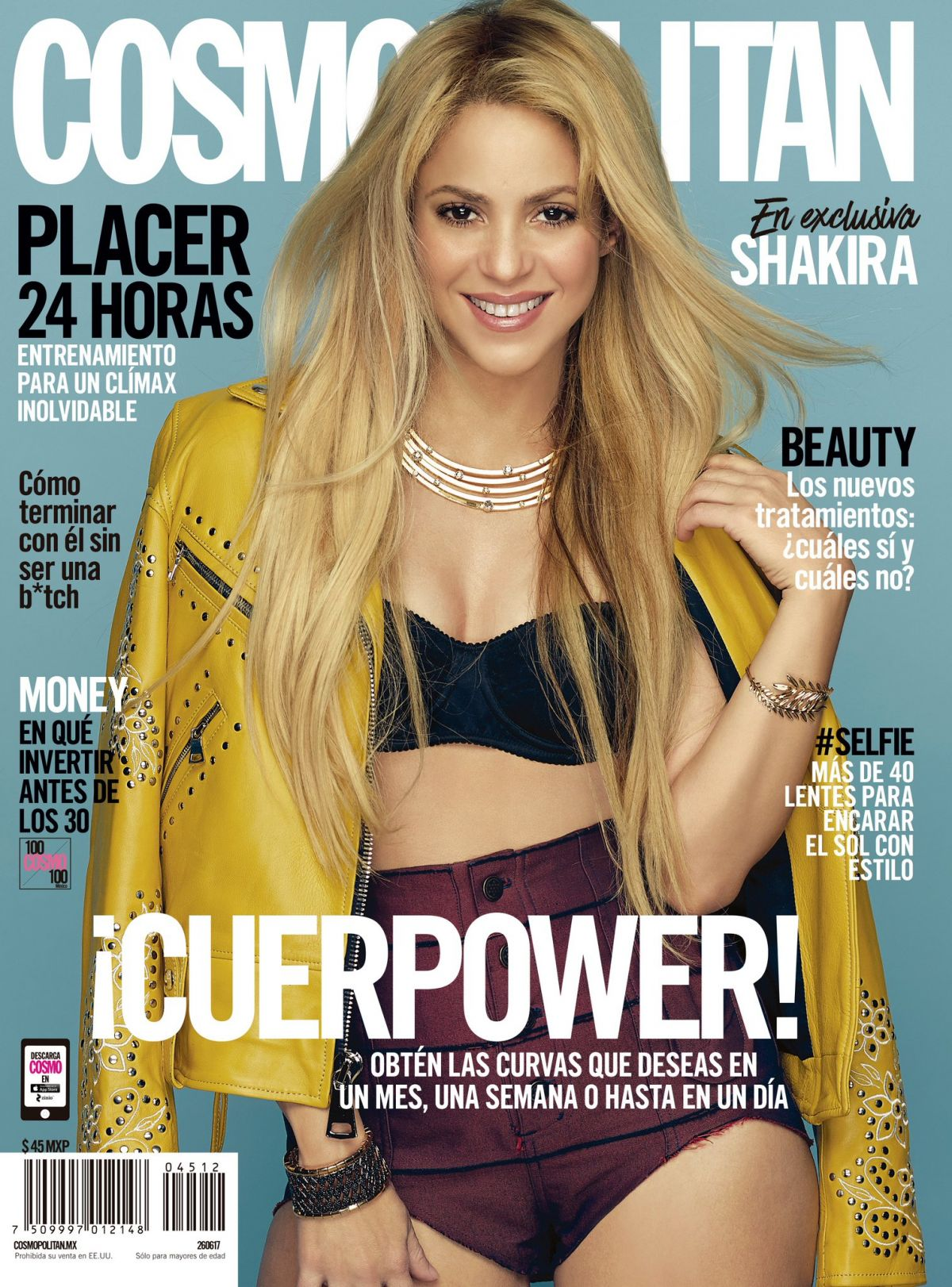 SHAKIRA in Cosmopolitan Magazine, Mexico July 2017