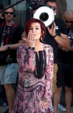 SHARON OSBOURNE Arrives at X Factor Auditions in Liverpool 06/20/2017