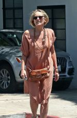 SHARON STONE Out and About in Beverly Hills 06/28/2017