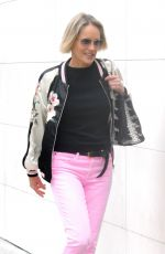 SHARON STONE Shopping at Louis Vuitton Store in Beverly Hills 05/31/2017