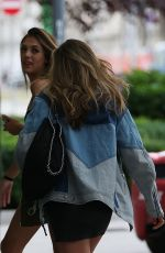 SISTINE ROSE and SOPHIA STALLONE Out in Milan 06/16/2017