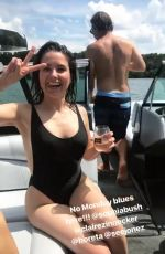 SOPHIA BUSH in Swimsuit at a Boat, 06/25/2017 Instagram Pictures