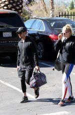 SOPHIE TURNER and Joe Jonas Arrives at a Gym in Los Angeles 06/12/2017