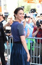 SUTTON FOSTER Arrives at AOL Studio in New York 06/27/2017