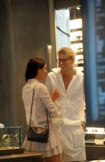 TAHNEE ATKINSON and Jordan Barrett Out Shopping in Milan 06/17/2017