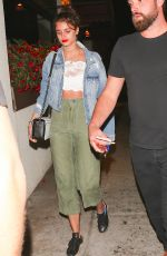 TAYLOR HILL Leaves Matsuhisa in Beverly Hills 06/17/2017