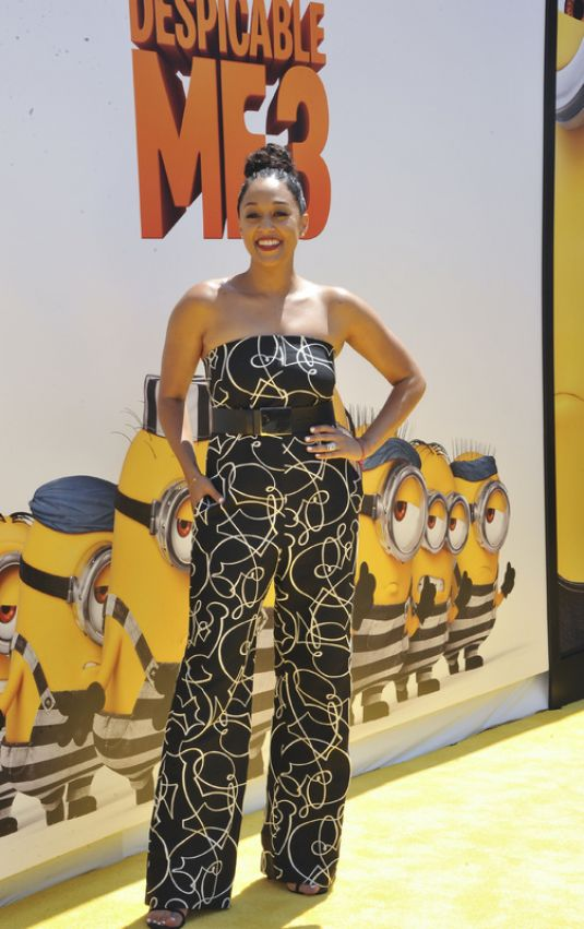 TIA MOWRY at Despicable Me 3 Premiere in Los Angeles 06/24/2017