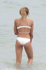 TINASHE in White Bikini on the Beach in Miami 06/10/2017