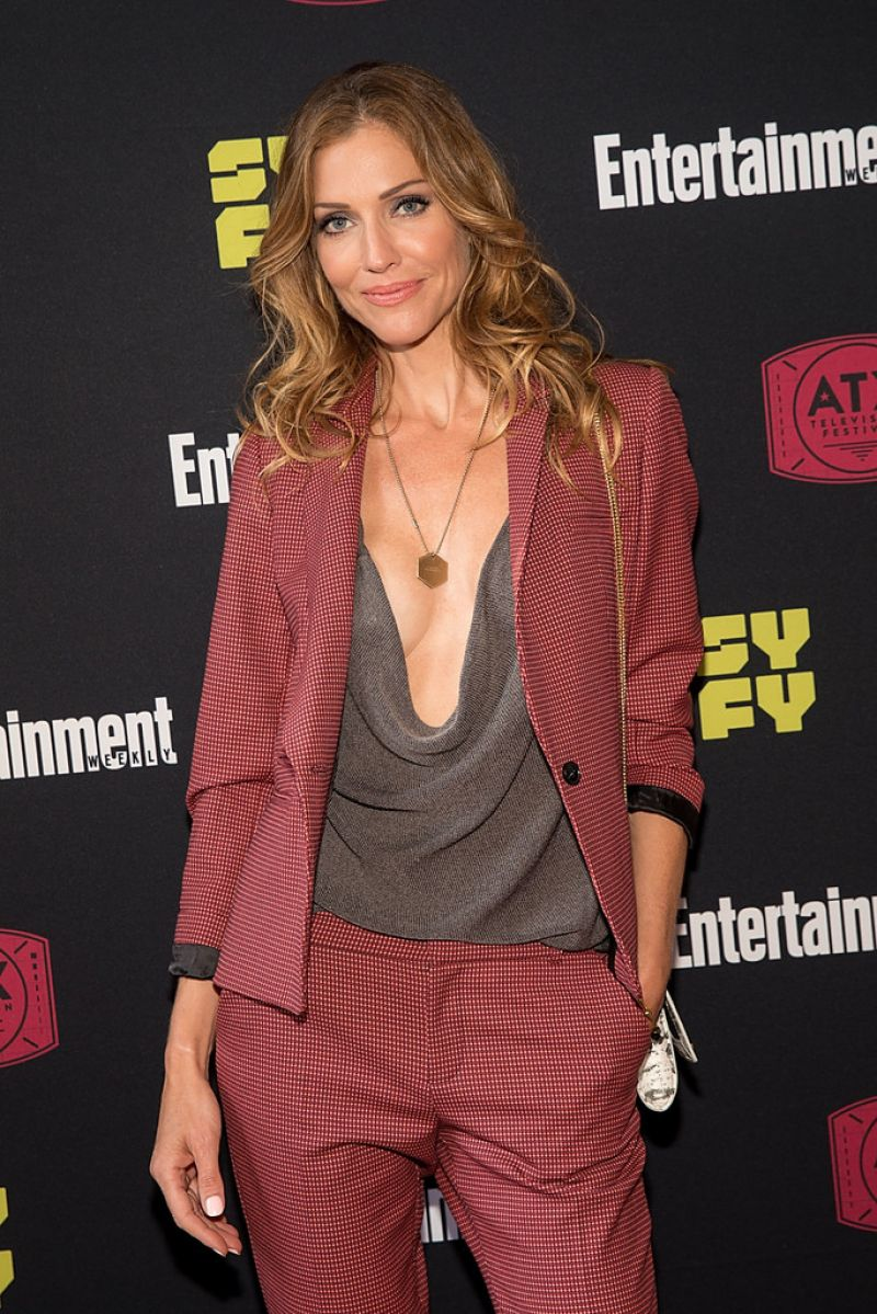 TRICIA HELFER at Battlestar Galactica Reunion Panel in Austin 06/10/2017