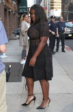 UZO ADUBA Arrives at Late Show with Stephen Colbert in New York 06/12/2017